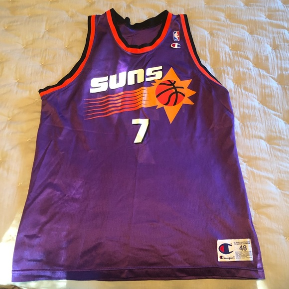 best loved 6d9a0 06c3f Champion Phoenix Suns Kevin Johnson Jersey